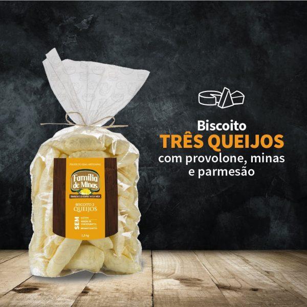 Biscoito 3 queijos 1.5kg - Família de Minas