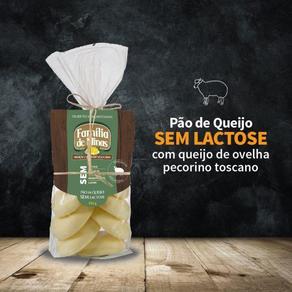 Pão de queijo sem lactose 500g - Família de Minas