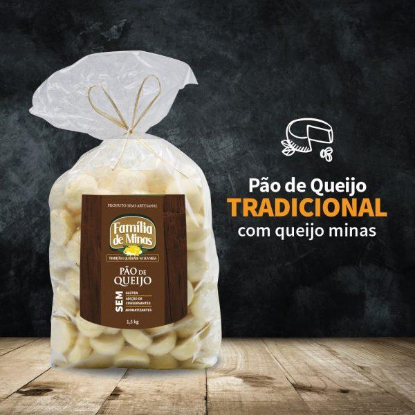Pão de queijo tradicional 1.5kg - Família de Minas