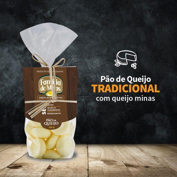 Pão de queijo tradicional 500g - Família de Minas